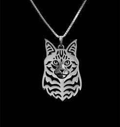 $enCountryForm.capitalKeyWord Canada - Maine Coon Cat Necklace Pendant Silver Gold Necklaces & Pendants For Women Casual Jewelry Charms Dog Necklace free shipping