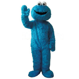 Blue Elmo UK - 2019costumes Sesame Street Blue Cookie Monster mascot costume Cheap Elmo Mascot Adult Character Costume Fancy Dress