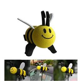 Metal Car Antenna Australia - New 2016 Car Interior Accessories Cute Mini Cute Lovely Bee Antenna Topper For Car Decoration Ornaments 1PC Hot Sale