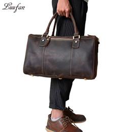 c23e07d851 leather duffel bags men 2018 - Big capacity Crazy Horse Leather Men Travel  Bag Vintage Genuine