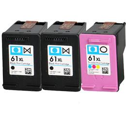 3PCS nouvelle cartouche d'encre couleur noire compatible 61 CR259FN Deskjet 2050 2510 2540 2549 3000 3050 3050A 3515 3516
