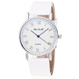 $enCountryForm.capitalKeyWord Australia - Roman unique digital leather band quartz watch for lady Simple Design High Quality Benificial Gift