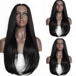 Discount full lace wig 33 - 7A Virgin Hair Lace Front Wig Brazilian Remy Human Hair Straight Hair Full Lace Wigs for Women 150% Density 1B#2#6#27#30