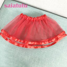 Red White Blue Tutus Australia - Summer Kids Baby party birthday princess Tulle Pettiskirt Children mini short Tutu girl Skirt Falda Vestido rose red skirts