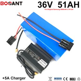 Motor Bicycles Australia - BOOANT 36V 50AH E-Bike Battery pack for Bafang 500W 800W 1500W 2000W Motor Electric Bicycle Battery 36V with 5A Charger 70A BMS