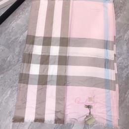 Scarfs Cotton Australia - Pink tencel cotton material feels soft and classic plaid style fashion wild,luxury scarf,luxury brand designer scarf,brand scarf