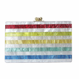$enCountryForm.capitalKeyWord UK - 2018 Women messenger bag brand fashion eveningbag new wallet colorful stripe luxury handbag women casual shoulder vintage clutch