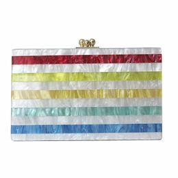 Colorful Buttons Bags UK - 2018 Women messenger bag brand fashion eveningbag new wallet colorful stripe luxury handbag women casual shoulder vintage clutch