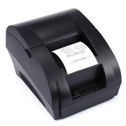 Wholesale Original ZJ-5890K Portable 58mm USB POS Receipt Thermal Printer with USB Port Low Noise For Restaurant Supermarket EU PLUG