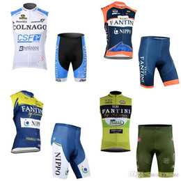 Discount jersey fdj - FDJ FANTINI team Cycling Sleeveless jersey Vest shorts sets High-Quality Breathable Bicycle Clothing Sportwear c2710