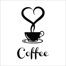Decor Wholesale Signs NZ - home decor Coffee shop sign modern wall decor decals home decorations 361 kitchen removable vinyl wall art diy decorative wall stickers