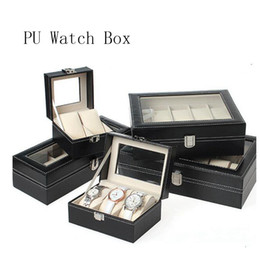 $enCountryForm.capitalKeyWord Australia - Hot Selling New Watch Box Black 2Grids 3Grids Leather Fashion Box Display Case Watch Storage Organizer Holder Jewelry Box Bracelet Organizer