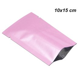 Pink Heat-Sealable Portable Open-Top Mylar Single-Serving Sample Packets