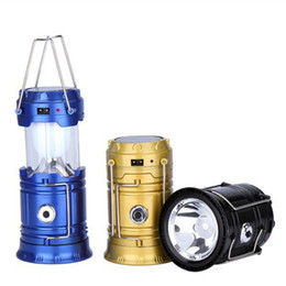 Chinese  The new solar camping LED tent camping lantern lantern solar charging function manufacturers