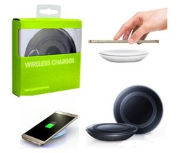 Box fast online shopping - Universal Qi Wireless Charger Pad Power Fast Charging for S6 S6 Edge S7 S7 Edge iPhone X with Retail Box can with logo