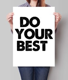Best Canvas Prints Canada - Digital Print Do Your Best Motivational home Decor Inspiring Art Bedroom Kids Wall Decor Awesome Quote Black and White painting