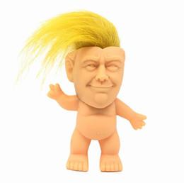Funny prank giFts online shopping - US President Donald J Trump Hair Doll Funny Novelty Gag Gift Prank Joke Dolls Kids Children Creativity Toys KKA6212