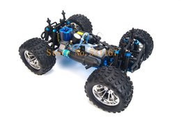 Chinese  Wholesale-HSP Rc Truck 1 10 4wd Nitro Gas Power Off Road Monster Truck Remote Control Car High Speed 4X4 Remote Control Toys manufacturers