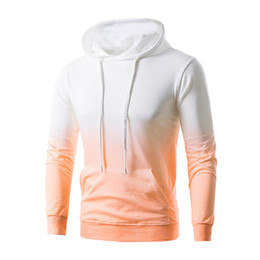53919eb0180 Asian Hoodie NZ - Gradient Color Men Women Casual Hoodies Spring Autumn  Pullover Male Female Solid