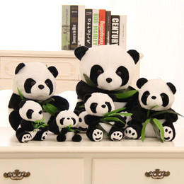Christmas Gifts Chinese Australia - New Arrival Wedding Favors Cute Chinese Panda Plush Toy Size 9cm t0 42cm Wedding Supplies Gift