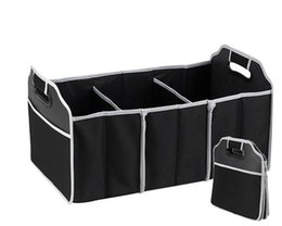 Wire Car Interior UK - Storage Bags Foldable Car Organizer Boot Stuff Food Storage Bags Bag Case Box trunk organiser Automobile Stowing Tidying Interior 60pcs