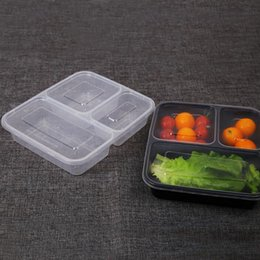 $enCountryForm.capitalKeyWord NZ - Black Transparent Disposable Lunch Bento Boxes Food Container Snack Packing Boxes Microwaveable PP Lunch Bento Box