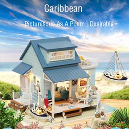 Vente en gros Iy chalet et mer des Caraïbes à la main assemblage villa modèle créatif jouet cadeau danniversaire assemblé à la main bricolage bâtiment bâtiment