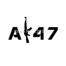 shipping film for cars UK - HotMeiNi Wholesale 20pcs lot AK47 AK-47 JDM Decal Vinyl Sticker For Car SUV Truck Window Bumper FREE Shipping