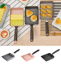 $enCountryForm.capitalKeyWord NZ - Aluminium Alloy Nonstick Flat Pan with Copper Ceramic Coating and Induction 18 .5cm Square Cooking Smokeless Tools