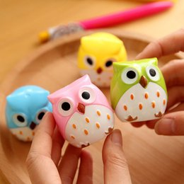 $enCountryForm.capitalKeyWord Canada - 4 Color Cute Kawaii Lovely Plastic Owl Automatic Pencil Sharpener Creative Stationery Gifts For Kids School Supplies 0157
