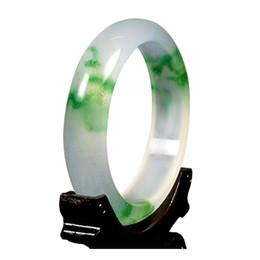 Chinese  Floating flower ice jade bracelet women natural genuine jade color girl jade bracelet manufacturers