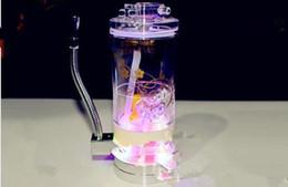 Acrylic Hookah Gas Lamp PS Six [single Hookah Wholesale Glass Bongs Oil  Burner Glass Water Pipes Oil Rigs Smoking Free