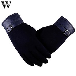 High Leather Gloves NZ - 2017 Gloves high quality Winter WarmDo not fall cashmere men Lingge leather gloves oc10