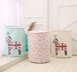 Folded Laundry Basket Canada - New waterproof dirty barrel folding toy creative clothes basket bra necktie socks storage box bag bins organizer laundry basket