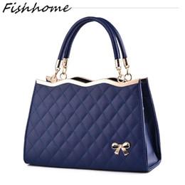 43783ca261b1 Wholesale- Woman Handbags Korea Bow Leather Messenger Bags Luxury Handbags  Women Bags Designer Bags Handbags Shell Bag Famous Brands HP300Z