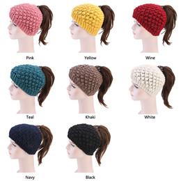 $enCountryForm.capitalKeyWord NZ - Muslim Women Crochet Wool knitted Turban Hat hairbands Winter Warm Skull Chemo Beanies Hair Loss Cover Protector Accessories