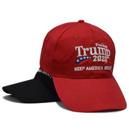Ingrosso Cappello da baseball Trump 2020 Cappello Keep America Grande cappello Donald Trump Cap Repubblicano President Trump Hat LJJK1109