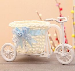 Bike flowers online shopping - Tricycle Bike Design Flower Basket Storage Container For Flower Plant Fleur Vase Home Party Weeding Decoration