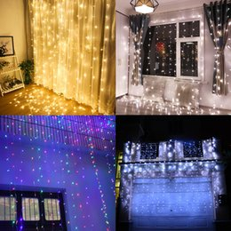 Wholesale led christmas lights outdoor nz buy new wholesale led 4m x 4m 512 led outdoor home warm white christmas decorative xmas string fairy curtain garlands party lights for wedding 10piece lot aloadofball Gallery