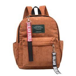 $enCountryForm.capitalKeyWord UK - 2018 New Men Travel Backpacks Mini Corduroy Wild Vintage Exquisite Fashion Wild Notebook Backpacks Men Material Escolar