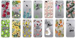 banana phone cover 2019 - Unicorn Flamingo Soft TPU Case For Iphone XR XS MAX X 8 7 6 6s Plus SE 5 5S Gel Flower Rose Fruit Pineapple Banana Carto