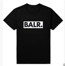 Wholesale Summer BALR Tees Men Black White Grey Letters Printed T shirts Short Sleeved Street Wear Tops Clothes