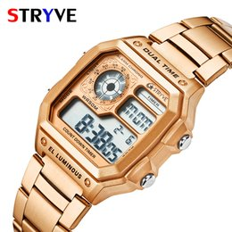 high quality mens sport watches UK - STRYVE New design high quality digital sports electronic watch waterproof cool watch mens watches