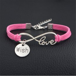 Wholesale 2018 New Sport Punk Infinity Love Wish Pendant bracelet Friend ship bangles Best Friends Forever Colorful Rhinestone Gift For women men