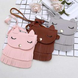 cute fox wallet 2019 - Cute Fox Pattern Coin Purse Kids Wallet Girls Tassel Pouch Single Shoulder Bag Cartoon Children Storage Bag cheap cute f
