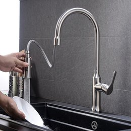 $enCountryForm.capitalKeyWord Australia - 304 stainless steel kitchen faucet pulls the sink hot and cold water faucet