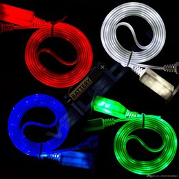 Iphone 5s Sync NZ - New arrival Visible LED USB Charger Data Sync Cable for iPhone 5 5s 6 6s Plus 7 7 Plus iPhone X E29