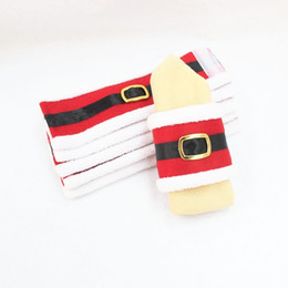 Christmas Napkin Rings Wholesale NZ - Christmas Napkin Rings Santa Claus Hotel Supplies Christmas Gifts Clothes Napkin Holders christmas decorations for home Table