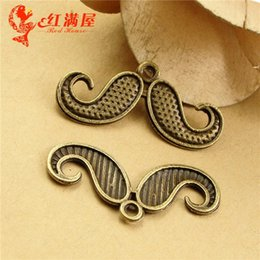 $enCountryForm.capitalKeyWord NZ - A3476 30*15MM Antique Bronze Retro Affandi beard pendant mobile phone accessories, moustache charm beads, Chinese charms China factory