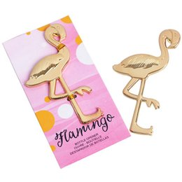Keys Kitchen online shopping - Flamingo Bottle Opener Wedding Ceremony Gift Shovel Key Aircraft Party Supplies Metal Beer Openers Kitchen Tools wl bb